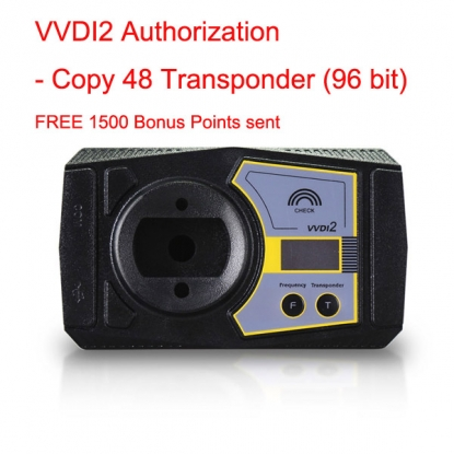 VVDI2/VVDI Key Tool Authorization - Copy 48 Transponder (96 bit) Get MQB Key Learn Authorization for Free