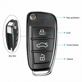 Xhorse XKA600EN Wire Remote Key for A6L Q7 Flip 3 Buttons Silicagel Button